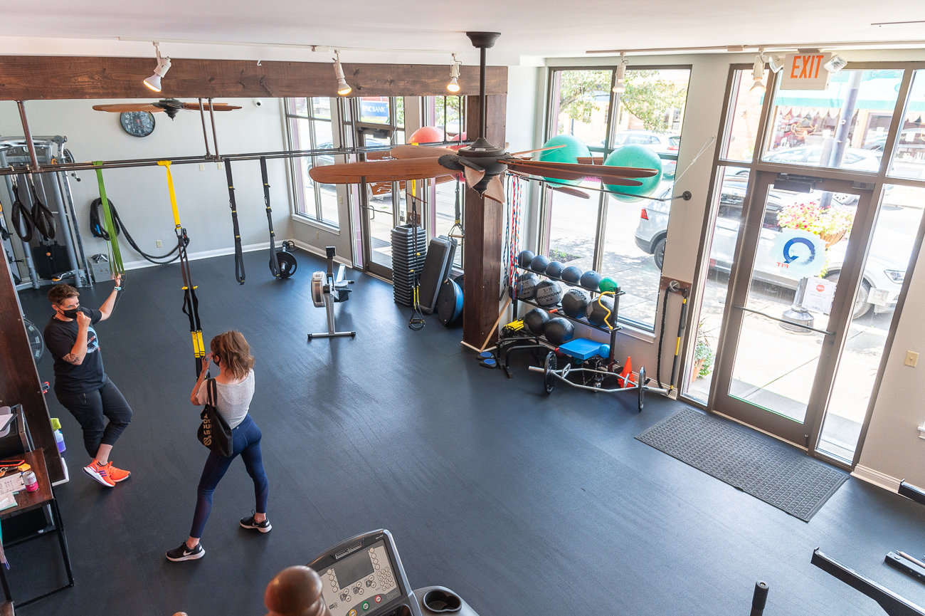 Melissa incorporates overall wellness and nutrition into the client's workout to help them build healthy habits outside of the studio. / Image: Phil Armstrong, Cincinnati Refined // Published: 9.1.20