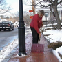 Warming temperatures helping with quick snow clean up
