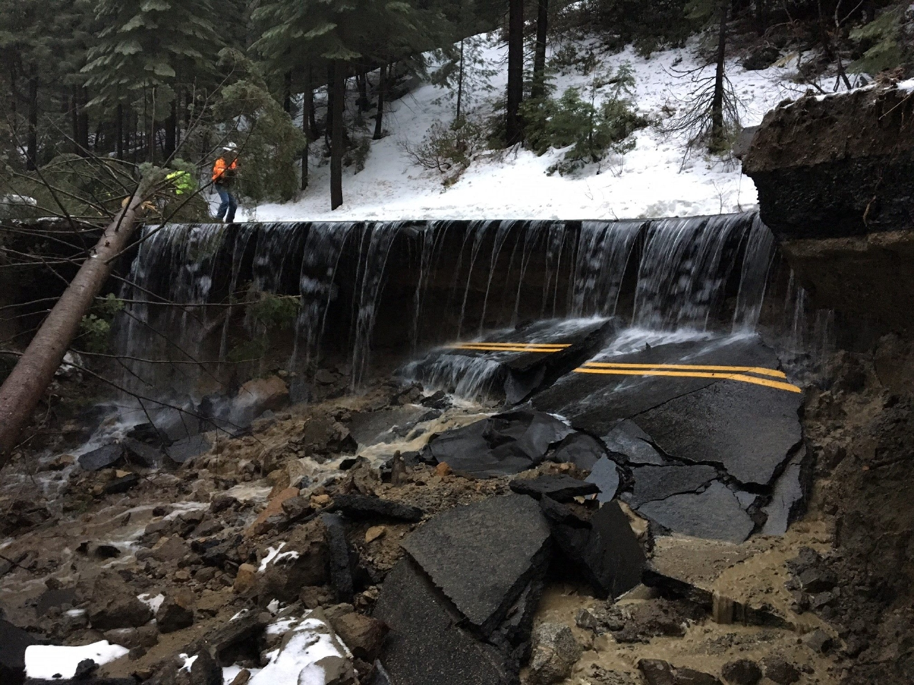 McKinley Grove Road Washed Out, Impassable After Storm
