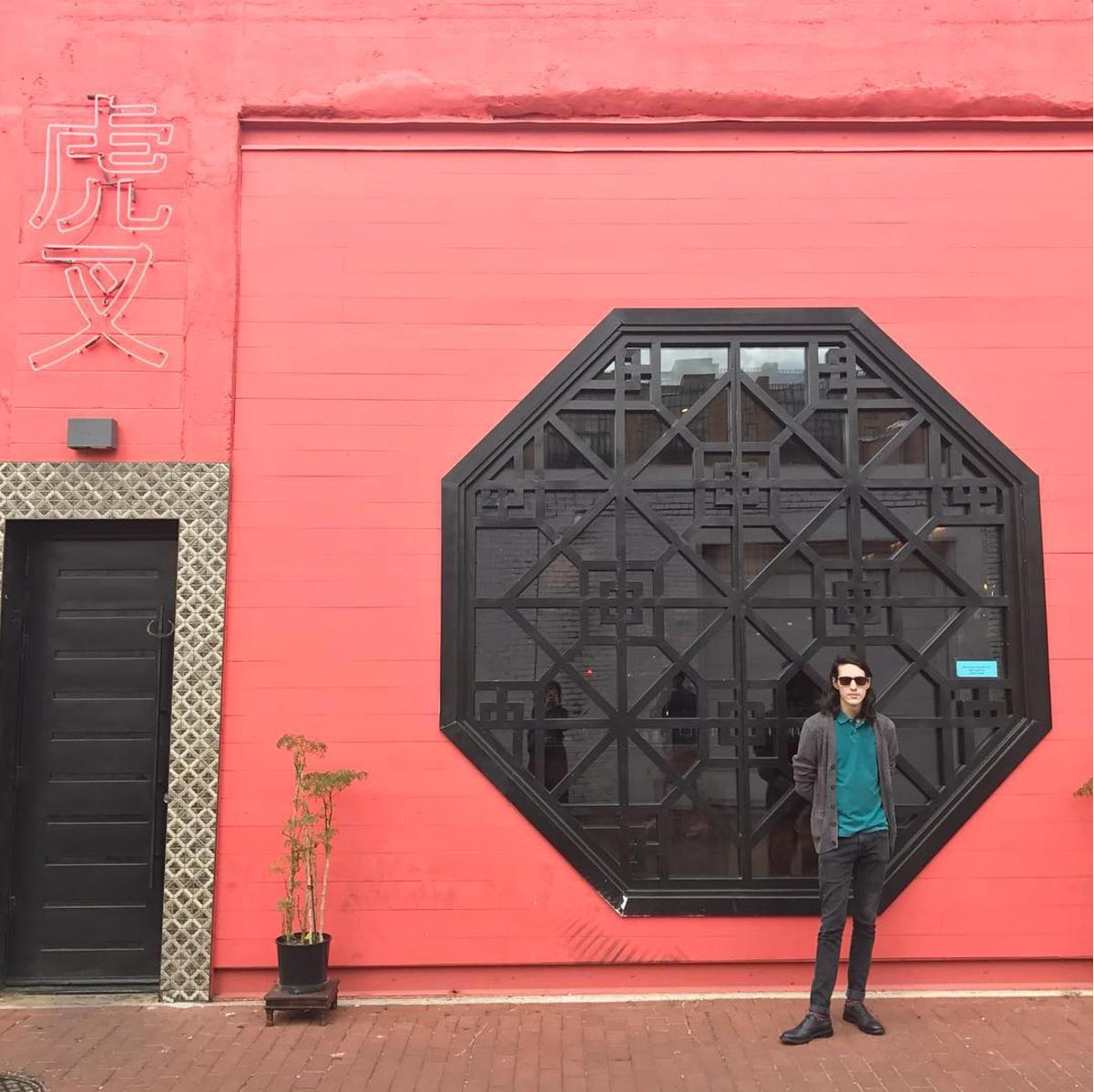 The murals aren't the only instagrammable things in Blagden Alley - the exterior of Tiger Fork is simple and eye catching. The food inside is stellar too! (Image via @majorrevenue)