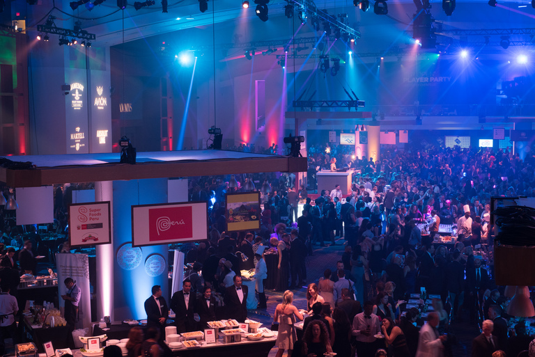 Crowds filled the Walter E. Washington Convention Center during the 2017 RAMMY Awards Gala. Guests enjoyed food from Peru and music by DJ Neekola. (Image: Courtesy Events DC)