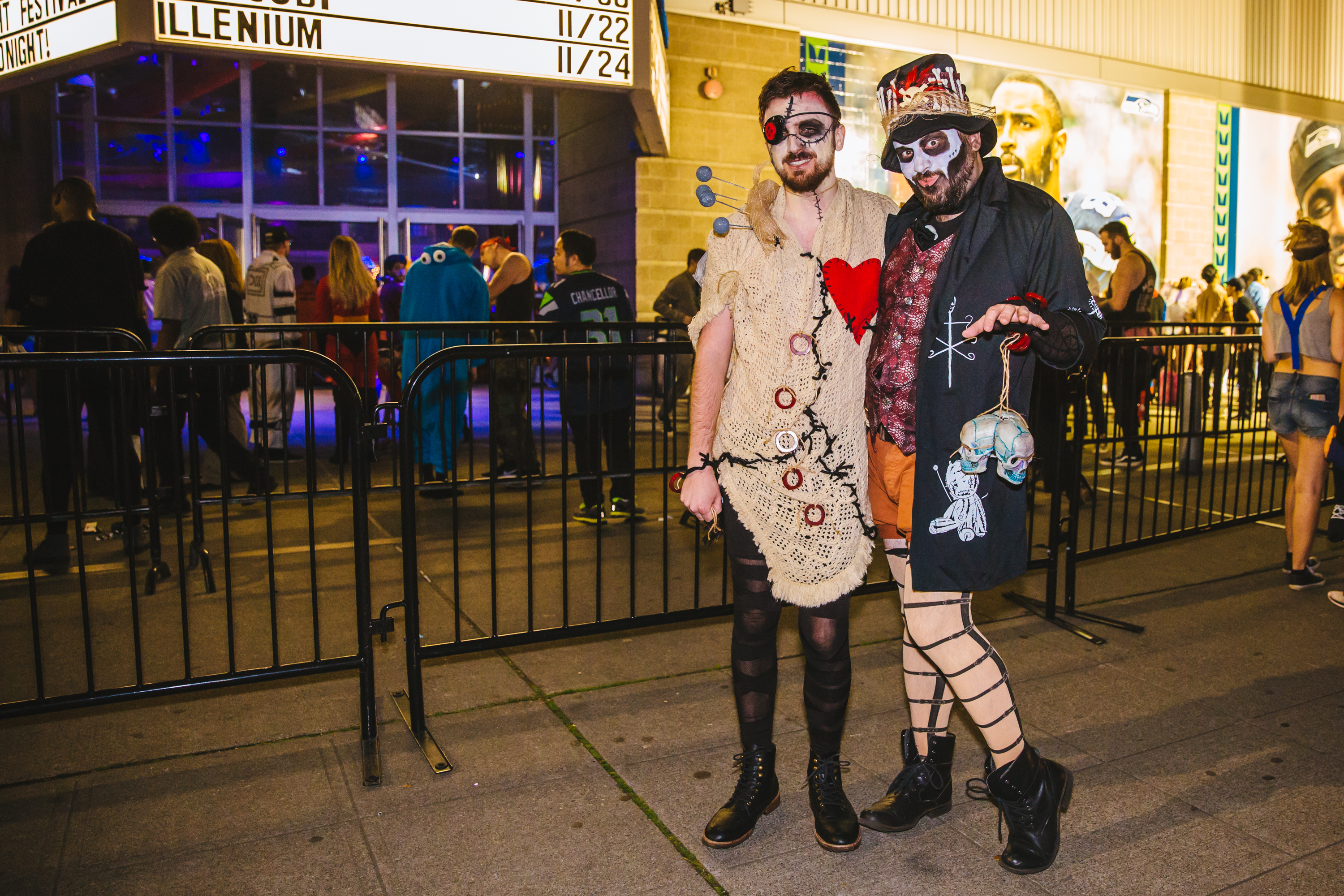 Thousands of people came to the WaMu Theater for the annual FreakNight Electronic Music Festival on Friday night, October 27 2017. The event brings out wildly costumed fans who dance the night away, go on rides and play carnival games. (Image: Sunita Martini / Seattle Refined)