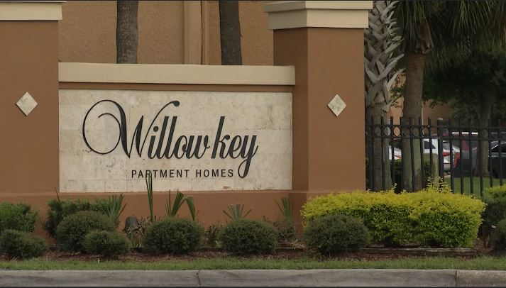 Baby abandoned at apartment complex in Orlando. (CNN Newsource)