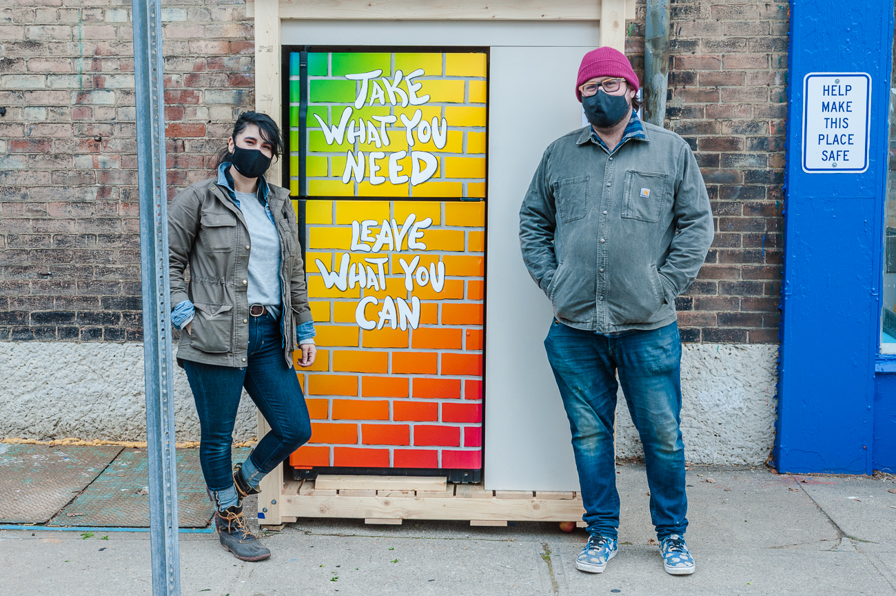 Toncia Chavez (owner of ETC Produce & Provisions and co-founder of Fridge etc.) and Matthew Grote (artist){ }/ Image: Kellie Coleman // Published: 1.7.21