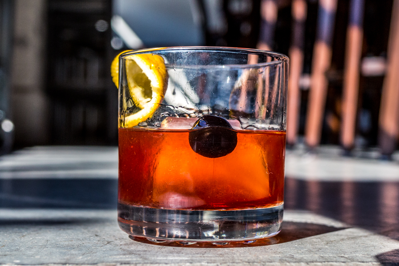 Old Fashioned: Belleit Rye bourbon, muddled orange and cherry, a dash of bitters, sugar, and a lemon twist garnish / Image: Catherine Viox{ }// Published: 11.10.19
