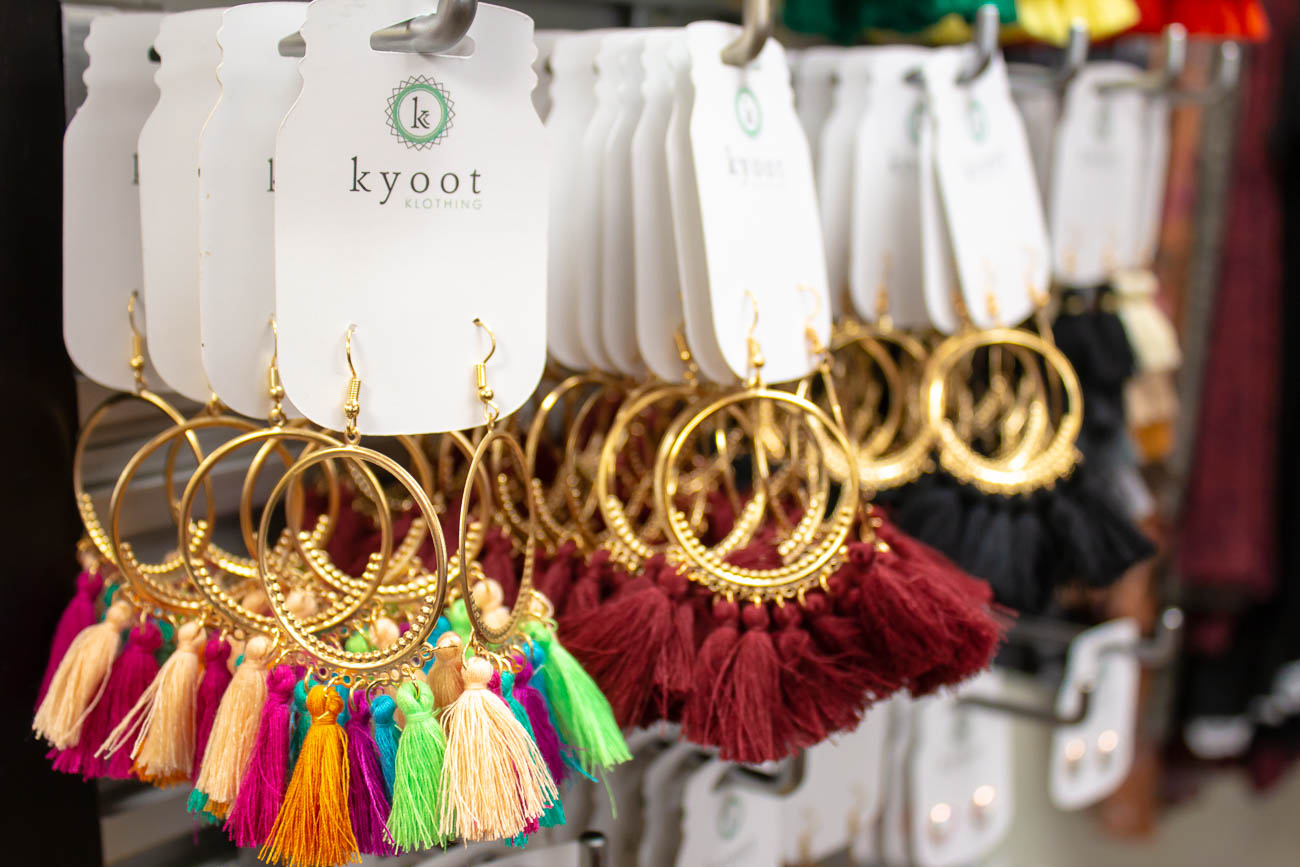 'KYOOT' combines the phonetic 'cute' with Kentucky's initials. Jené wants everyone who comes in to feel great about themselves, which is why she stocks all sizes and decorates the shop with motivational quotes. / Image: Katie Robinson, Cincinnati Refined // Published: 5.8.19