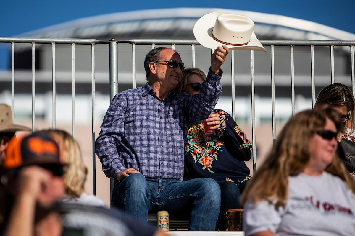 Rick and Jenn Cook watch day one of the Las Vegas Days Rodeo at the Plaza Hotel CORE Arena on Friday May 10, 2019. Las Vegas Days, formerly known as Helldorado Days, is an annual cowboy-themed event celebrating Las Vegas? tribute to the Wild West. CREDIT: Joe Buglewicz/Las Vegas News Bureau