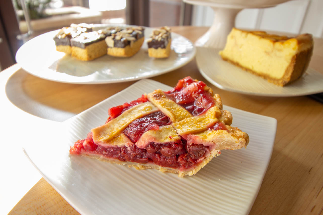 Cherry pie, biscotti, and cheesecake / Image: Katie Robinson, Cincinnati Refined // Published: 1.28.20