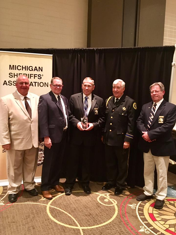 Terrence L. Jungel Sheriff of the Year: Missaukee County Sheriff James Bosscher (Photo Courtesy: Michigan Sheriffs' Association)