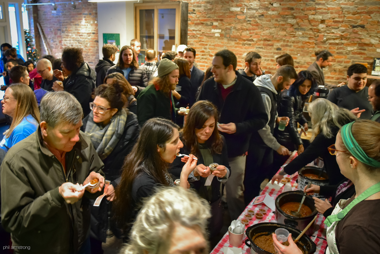 Park+Vine, the nearly decades-old, all-vegan general store on Main Street in Over-the-Rhine, celebrated its final day of business with a chili cook-off on Sunday, Jan. 15, 2017. Owner Danny Korman originally opened the store in June of 2007 on Vine Street. ADDRESS: 1202 Main St., Cincinnati, OH 45202 / Image: Phil Armstrong, Cincinnati Refined // Published: 1.21.17