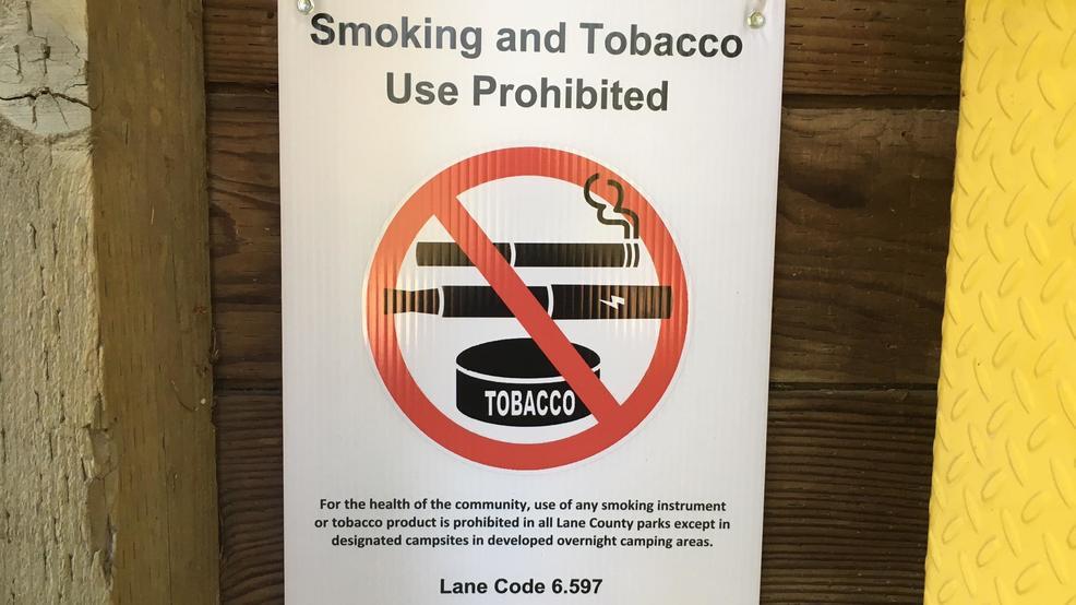 No Smoking Signs Go Up At Lane County Parks Touting Tobacco Free
