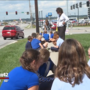 Students in Ralston test air quality for science project