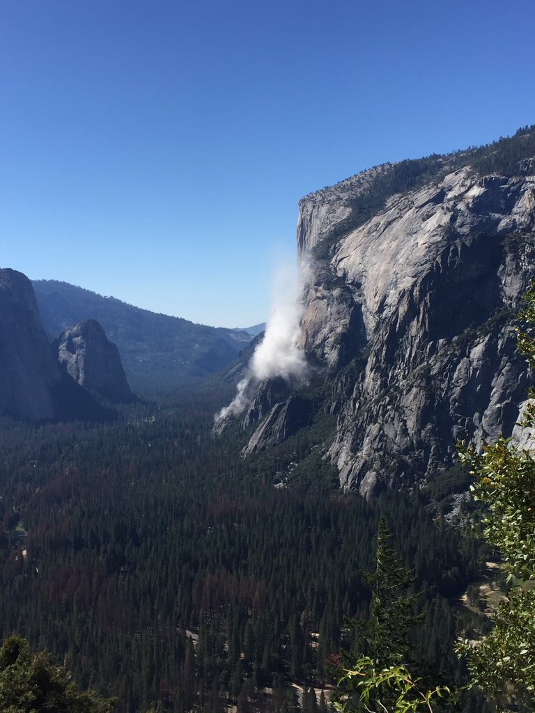 One person is dead and another was hurt after a rock slide on El Capitan, according to park officials. (Courtesy Jon Kameen)