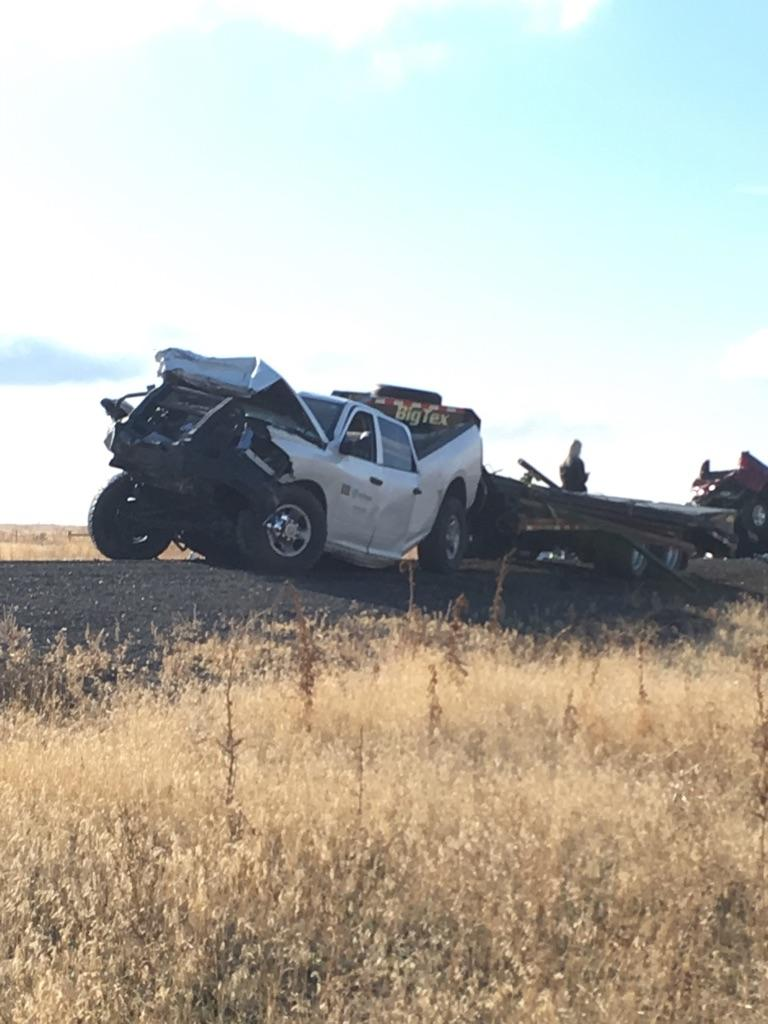 Oregon State Police troopers responded to a four-vehicle crash that sent six people to the hospital on Nov. 10, 2017. Photo courtesy Oregon State Police