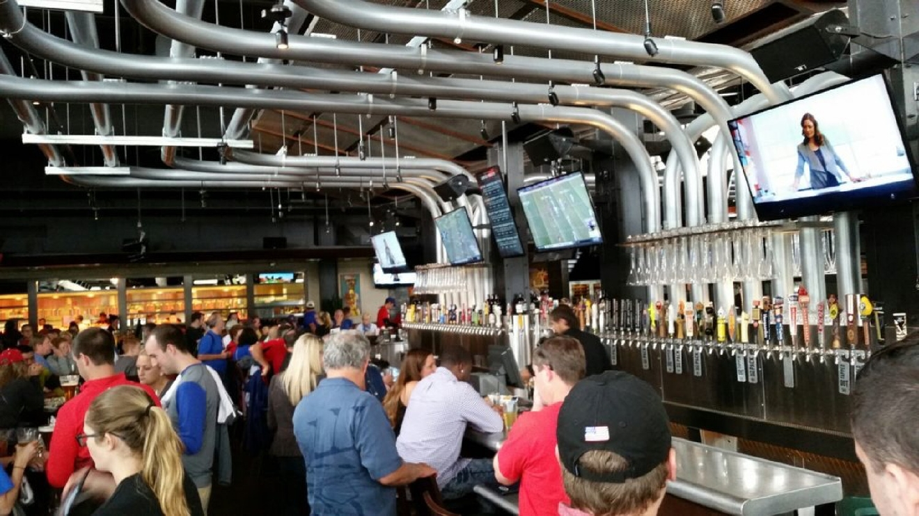WHERE: Yard House / LOCATION: 95 Freedom Way / DESCRIPTION: This list's king of beer taps is Yard House, where you can guzzle down one of its seemingly infinite number of draught beers while munching on eclectic cuisine. / Image  courtesy of Yelp user Tracy W. / Published: 11.8.16