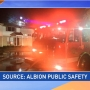 Fire in Albion apartment building investigated as suspicious