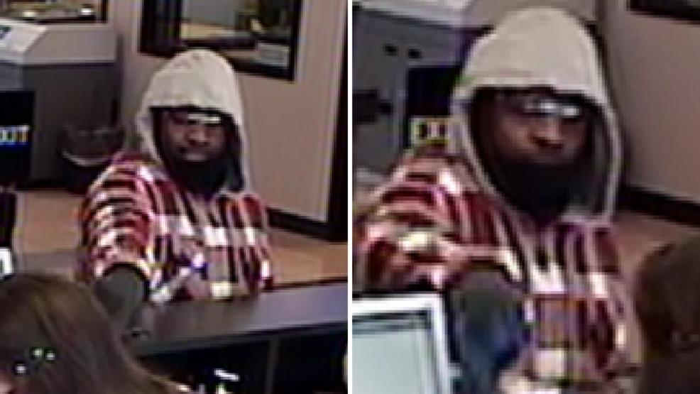 Bank robbery suspect caught on surveillance cameras at Arvest Bank near 91st and Delaware March 8, 2018. (TPD)<p></p>