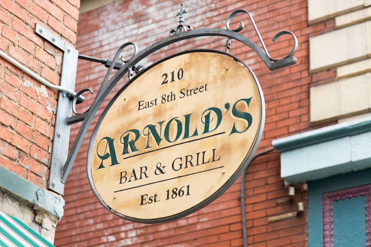 Arnold's Bar and Grill, the oldest bar in the city of Cincinnati, is located at 210 E 8th St. (45202).  --  Image: Daniel Smyth Photography