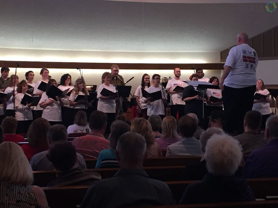 In honor of Armed Forces Day today, members of the Calvary Presbyterian Church in Genesee Township hosted a concert. (Photo Credit: Sarah Jaeger){ }
