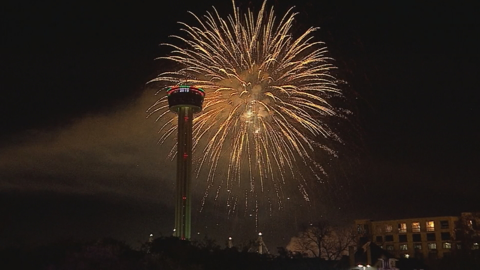WATCH THE FIREWORKS AGAIN: San Antonio rings in the New ...