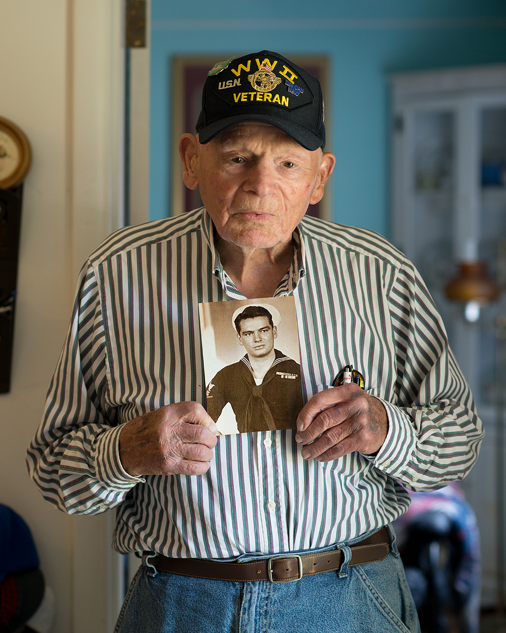 WILLIAM HARGIS / He joined the Navy before the attack on Pearl Harbor and saw a ton of action on the seas, including the wrath of two kamikaze pilots. / Read more of his story at facebook.com/theygaveitall. / Image: Patrick McCue // Published: 1.29.17