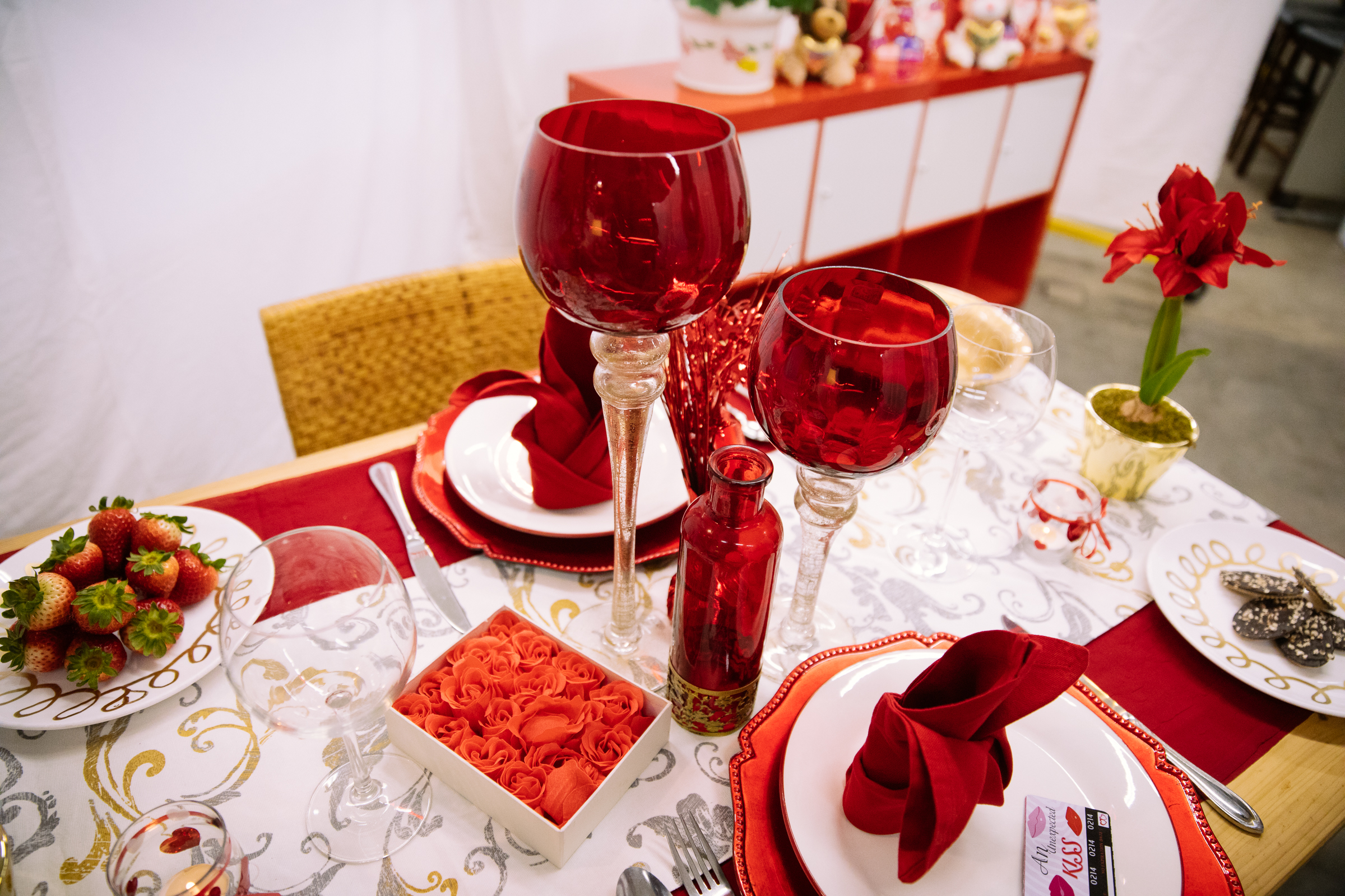 Seattle Goodwill is your one-stop shop for Valentine's Day. From new themed gift items to furniture and decor, you'll love the great selection and budget friendly finds. Plus, they have everything you need to create the perfect romantic tablescape, including plates and glass votive holders that you can make DIY projects with. (Photo courtesy Seattle Goodwill)