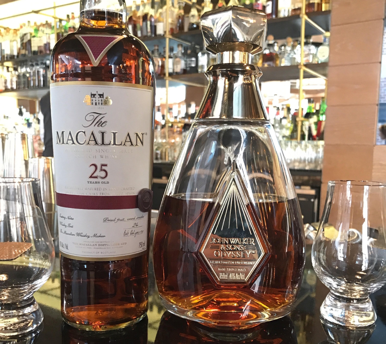 Macallan 25 Year Old and Johnnie Walker and Sons Odyssey at Bourbon Steak (Image: Courtesy Bourbon Steak)