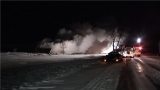 Barn fire in Frankenmuth has part of Dehmel Road closed