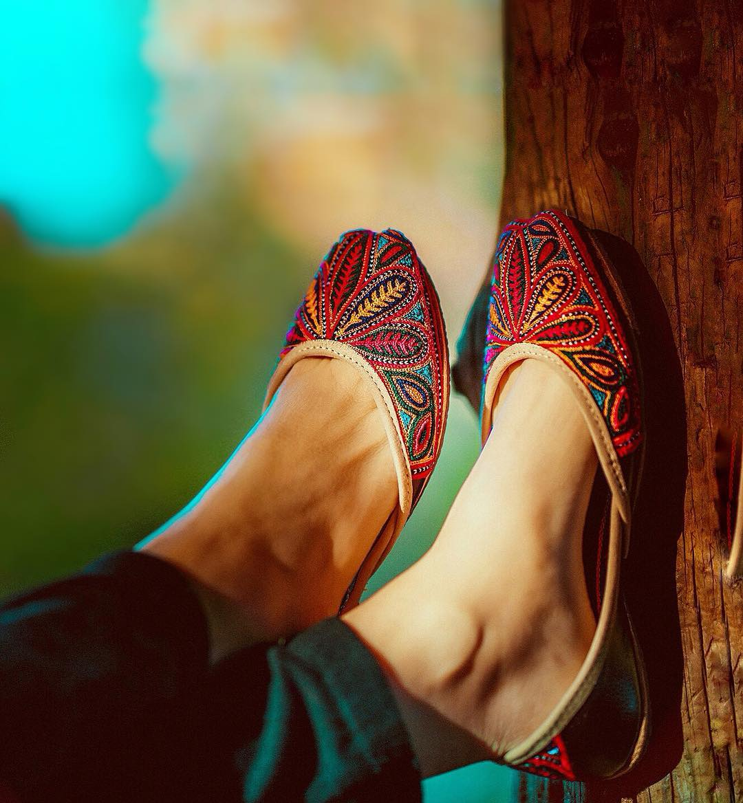 Locally based Fuchsia Shoes is known for their gorgeous embroidered flats, which are handmade by artisans in Pakistan. (Image: Fuchsia Shoes)