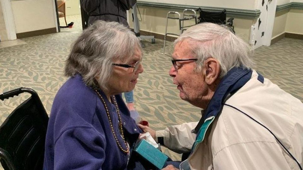 The nursing home was around the corner from Jean and Walter's house, so Walter would go visit every day, but the pandemic, and a lock down at the nursing home, pulled them apart. (WRGB PROVIDED)