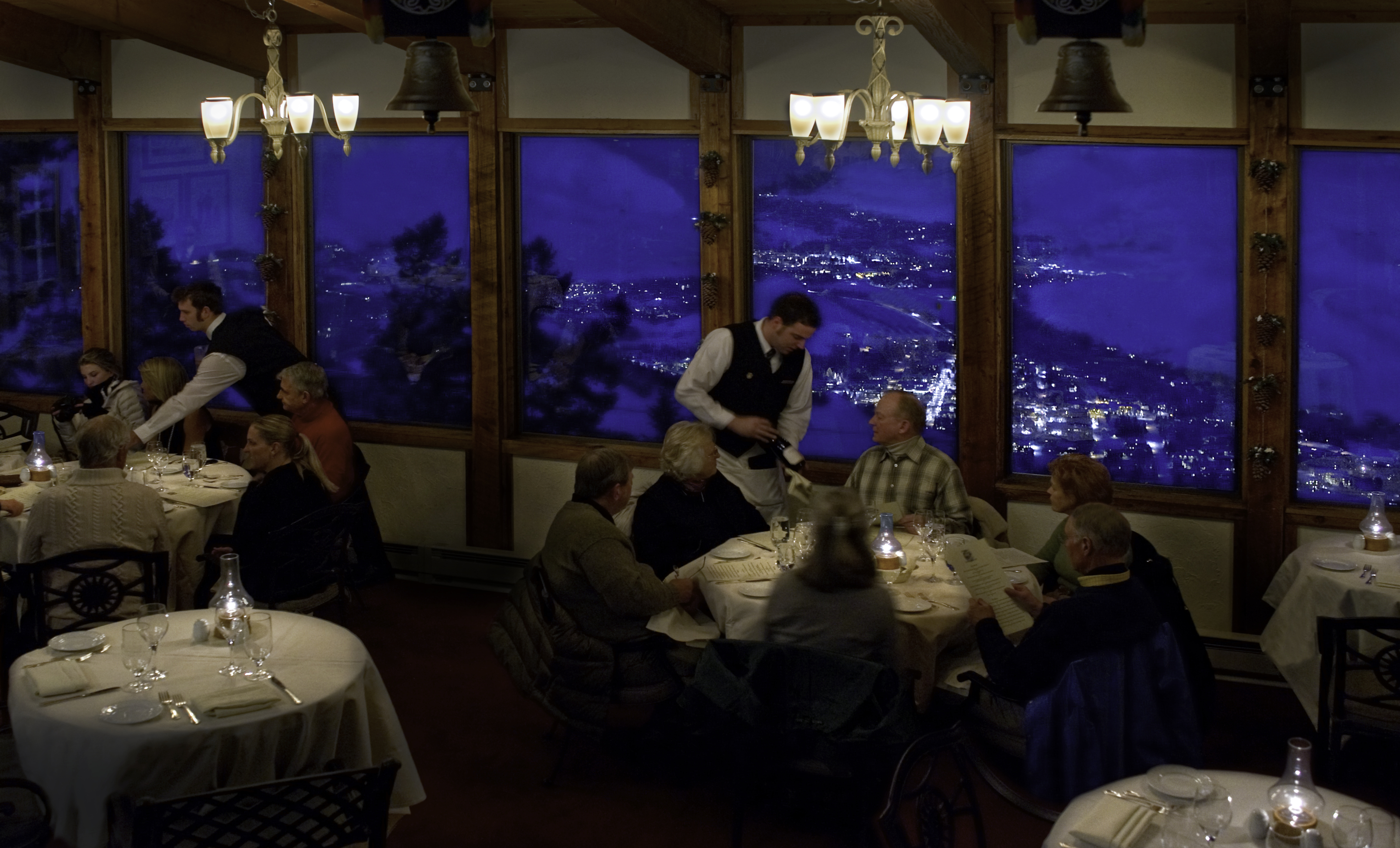 Evening Dining at Sun Valley Resort's Historic Round House