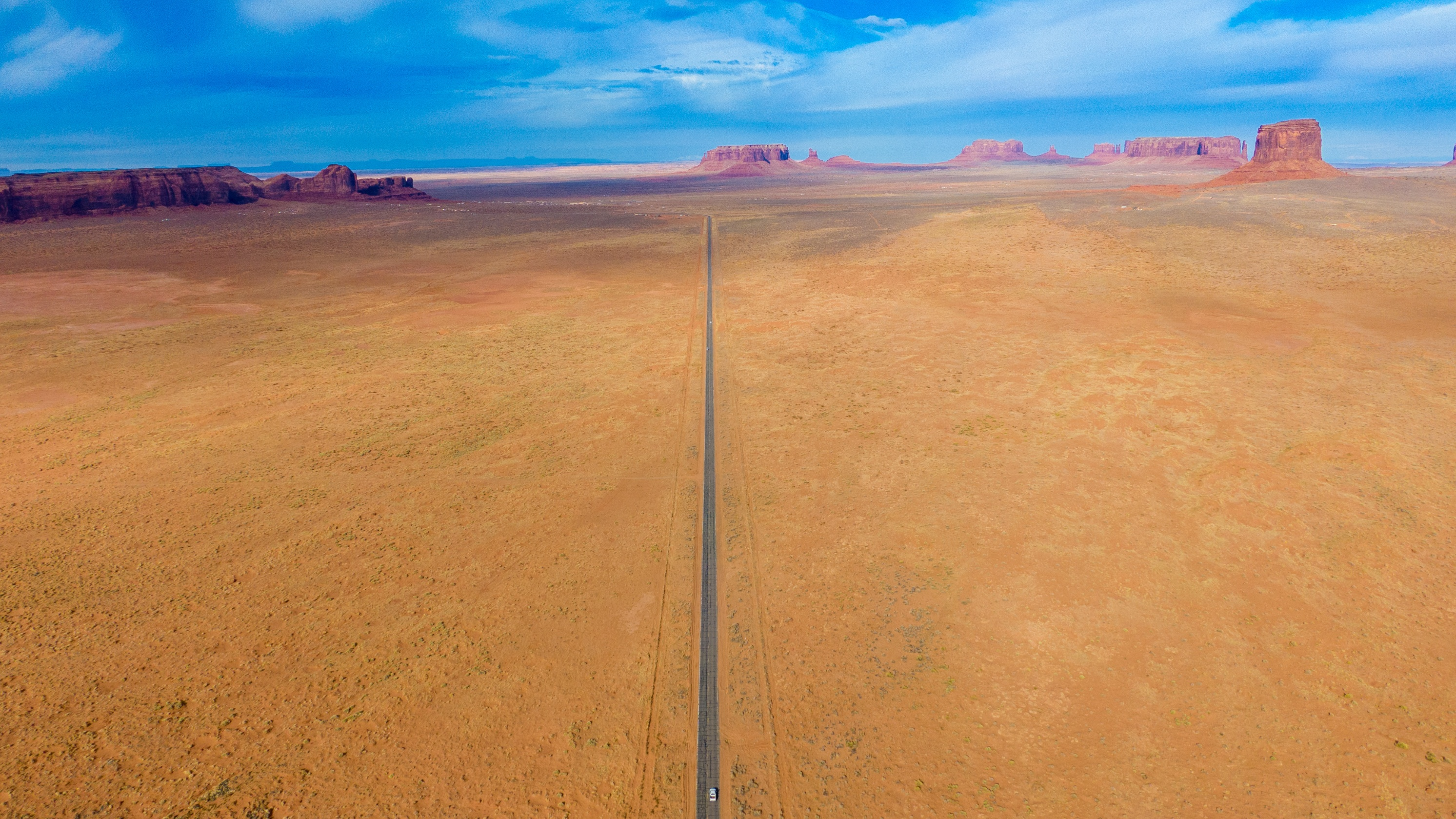 Monument valley road from the air. (Scott Taylor)