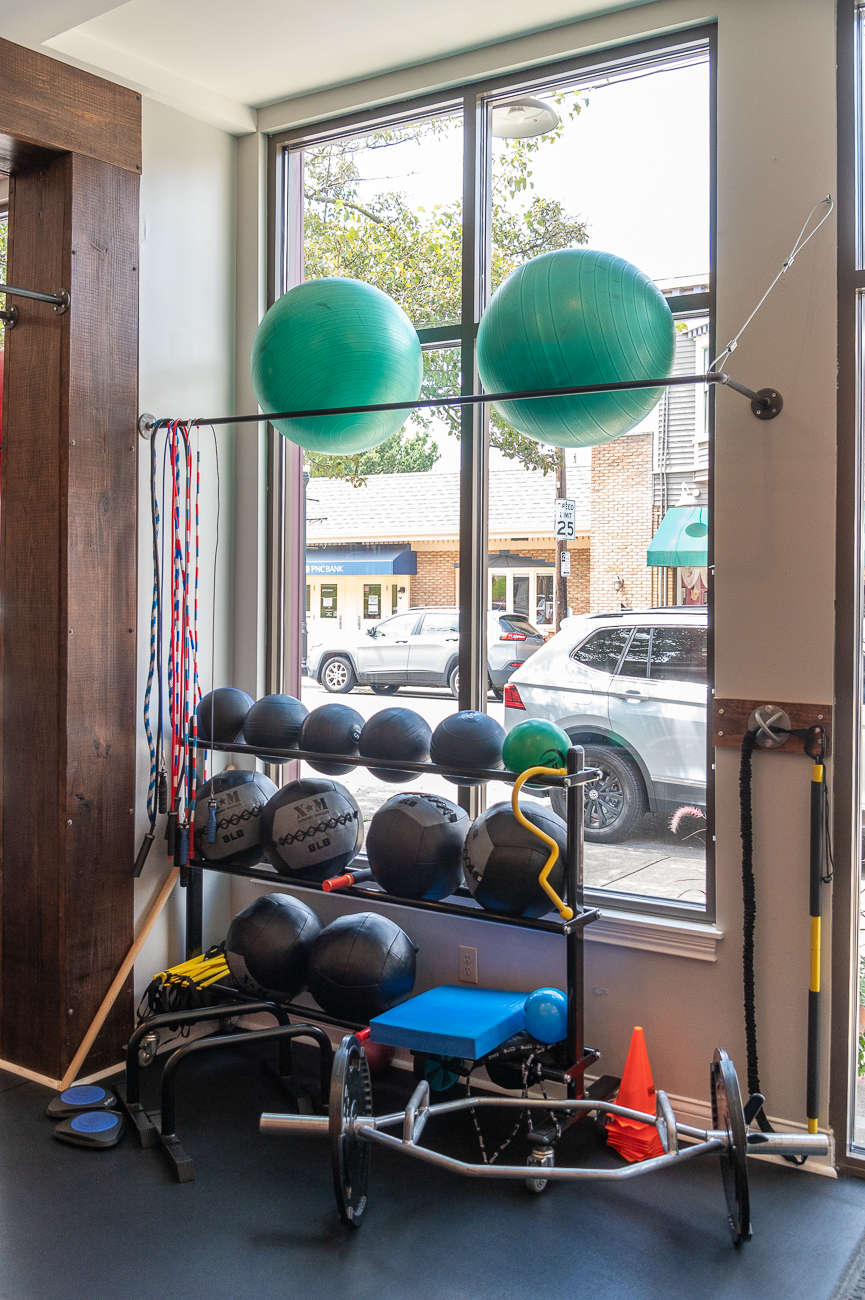 """I've learned that I want to make it more full wellness versus just a gym,"" owner Melissa Quarles says. ""My goal eventually is to have more seminars, get some chiropractors in here, stuff like that."" / Image: Phil Armstrong, Cincinnati Refined // Published: 9.1.20"