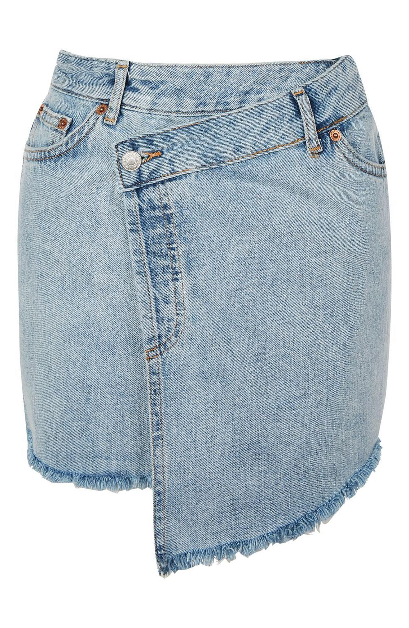 Topshop Deconstructed Wrap Denim Skirt $60 (Nordstrom)