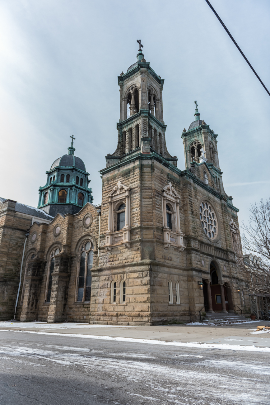 The Vineyard Center is a religious congregation that moved into this Byzantine basilica style church in Norwood in 1995. The ornate building once belonged to St. Elizabeth Catholic Church and was built in 1903. ADDRESS: 1759 Mills Avenue (45212) / Image: Mike Menke // Published: 2.14.19