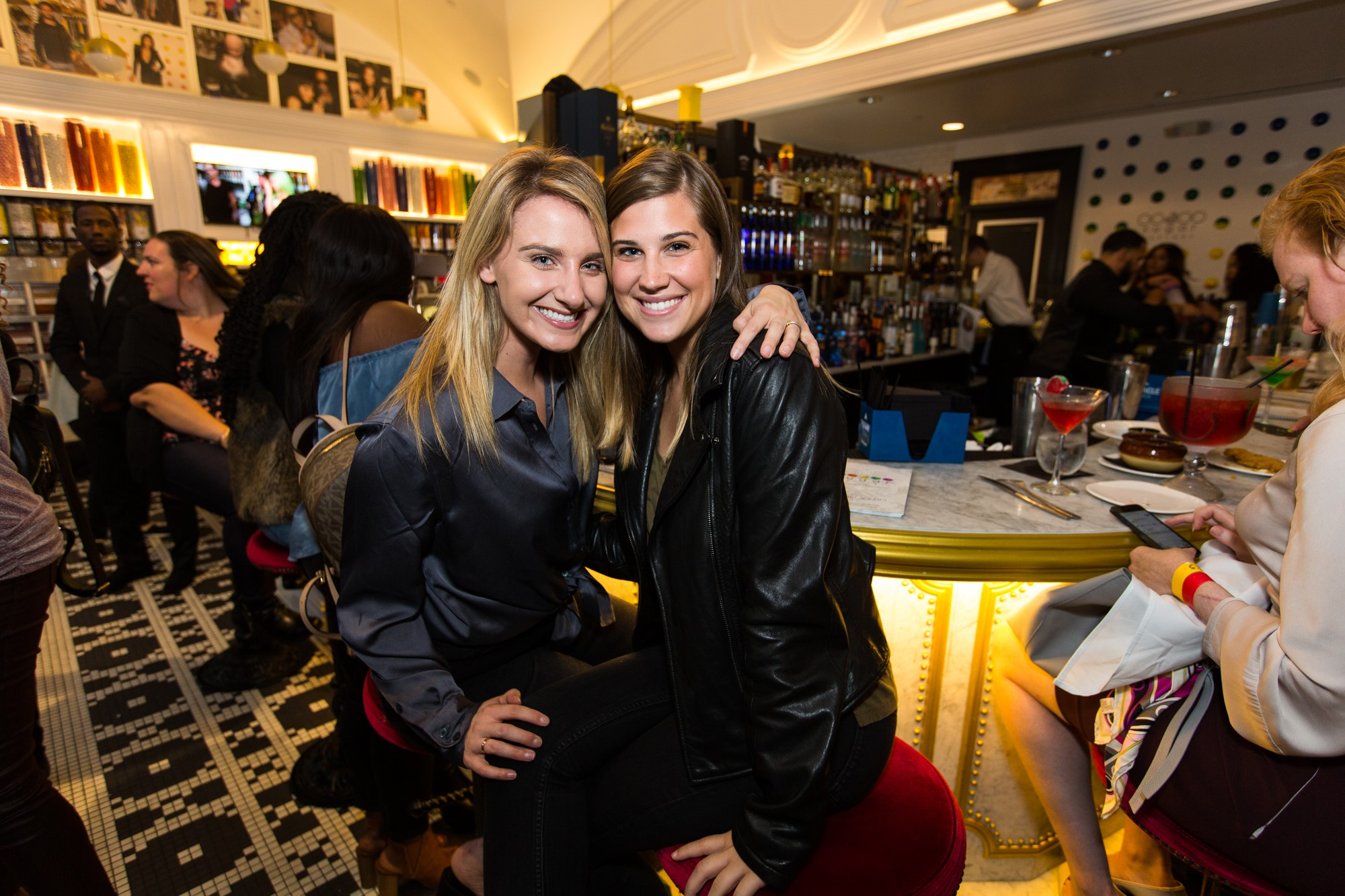 Claudia Giles and Cori Stroebel attended the event. (Image: John Robinson)<p></p>