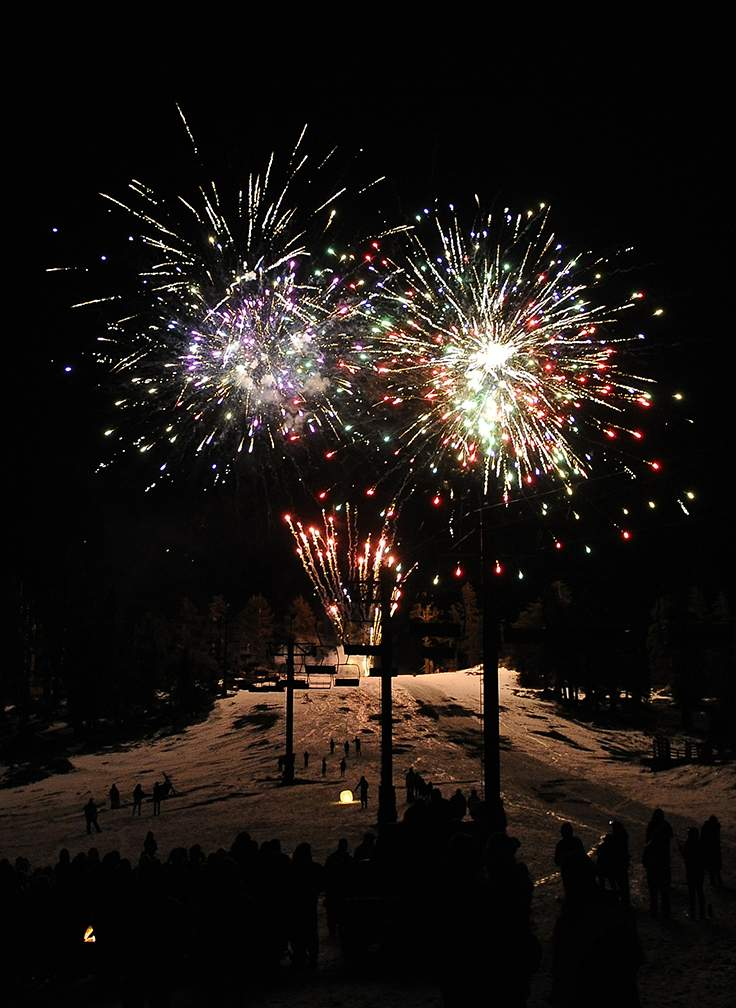Bavarian Night at Mt Ashland Saturday evening with a raffle auction, live music and fireworks part of an annual fundraiser for the Mt. Ashland Ski Patrol. - Andy Atkinson