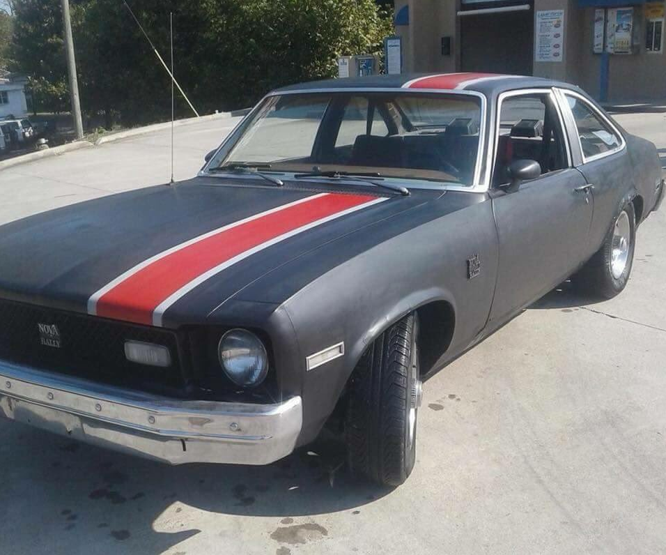 Knoxville police say Wilson may be driving a black, mid '70s Chevrolet Nova with a red strip on the hood. (Image: Knoxville Police Department)<p></p>
