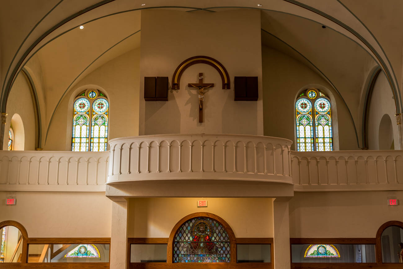 St. Lawrence Catholic Church is celebrating its 175th Jubilee this year. The church has been worshiping at its current location of 542 Walnut Street since 1866. It has survived five major floods, each time rebuilding by way of the generosity of the Lawrenceburg community it faithfully serves. / Image: Mike Menke // Published: 10.7.17