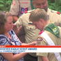 Local scout awarded Eagle after building patio for Camp Hill fire department