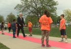 Gov. Pete Ricketts gives high fives