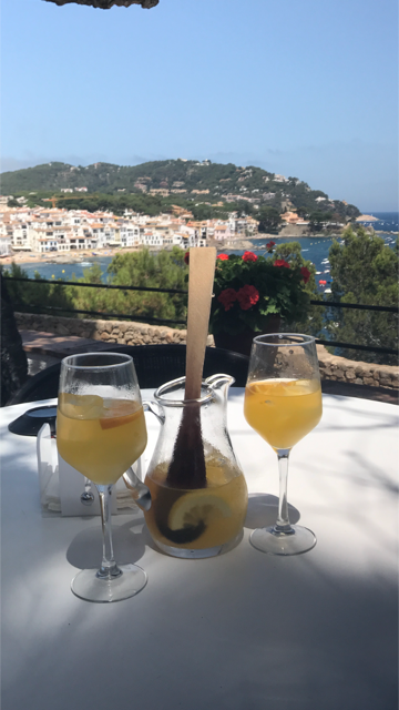 Another standout memory was relaxing outside, enjoying the stunning waterside views at  the Hotel San Roc in Calella de Palafrugell with a cool and refreshing carafe of Sangria. (Image: Courtesy Jeff Tunks)
