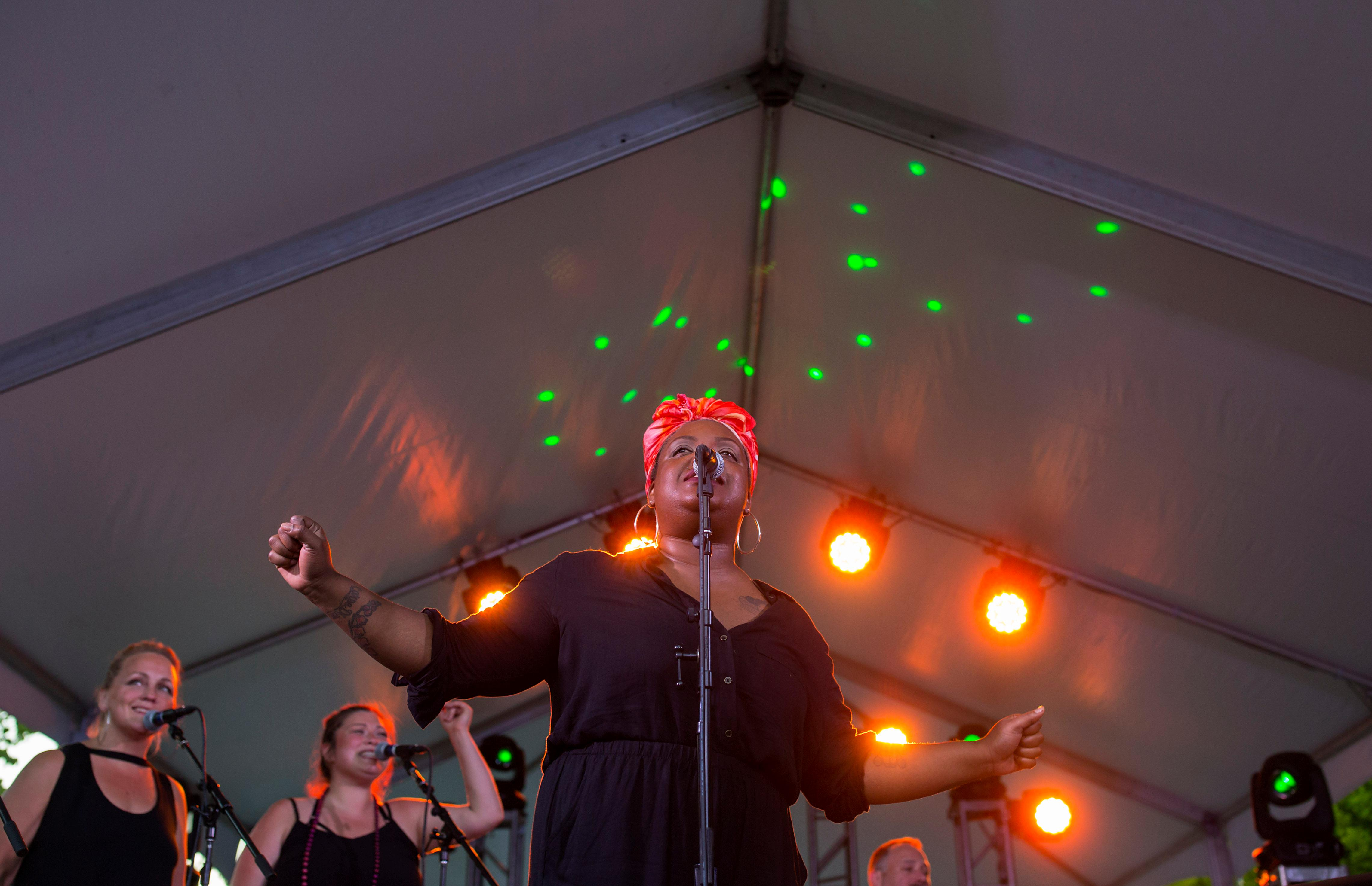To celebrate the Olympic Sculpture Park's 10th anniversary, Party in the Park threw an awesome party with guest performers Sir-Mix-A-Lot, Grace Love, and DJing by KEXP's Michele Myers! (Sy Bean / Seattle Refined)