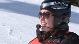 Girl blinded by car accident learns how to ski