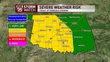 WEATHER AWARE: Strong storms possible in OKC metro, northern Oklahoma