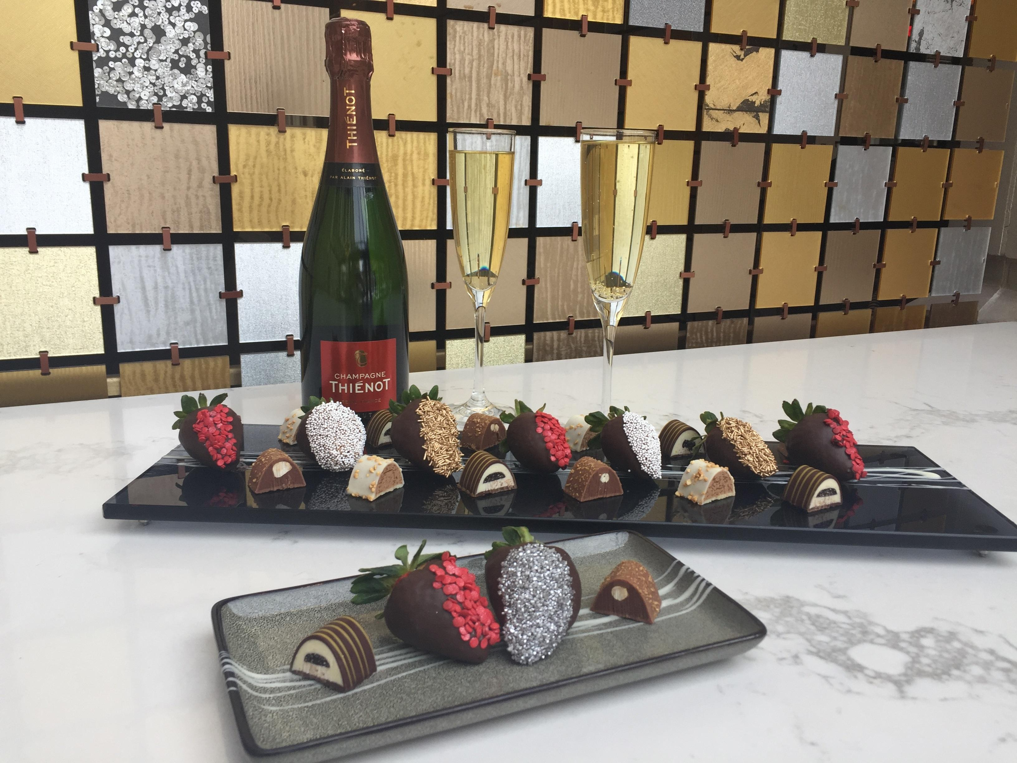 Celebrate Valentine's Day from Monday, February 11th through Sunday, February 17 with Champagne, chocolate truffles, and chocolate covered strawberries at the Fairmont in Georgetown.{ } (Image: Courtesy Fairmont Hotel)