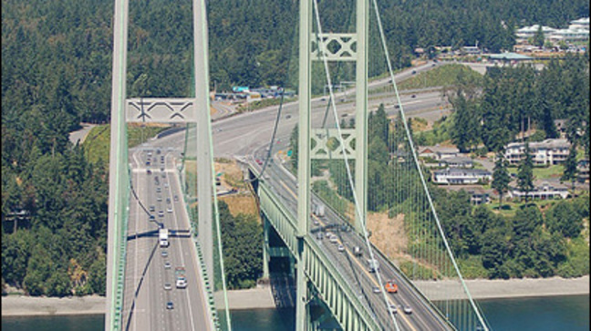 Deputy puts cruiser in harm's way to stop wrong-way, 94-year-old driver on Narrows Bridge