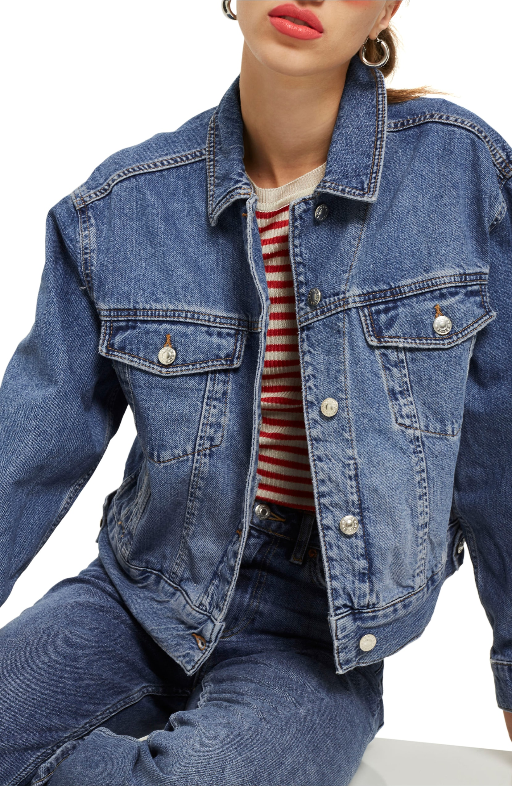 Boxy Crop Denim Jacket. Sale:$56.90 / After Sale:$85.00. (Image: Nordstrom)