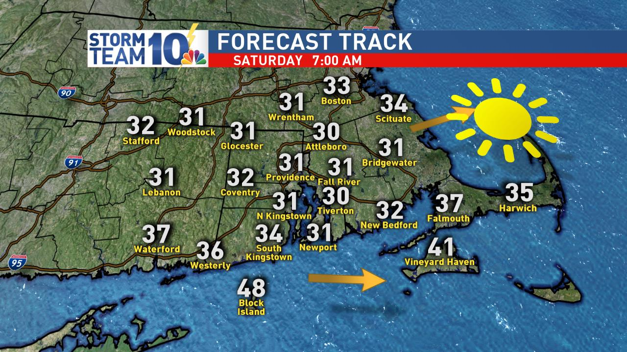 Cold start to your weekend Sat AM