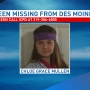 Iowa City Police looking for missing teen from the Des Moines area
